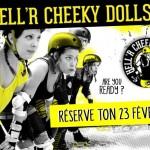 affiche entrainement public hell'r cheeky dolls roller derby la rochelle