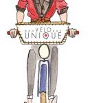illustration femme à vélo