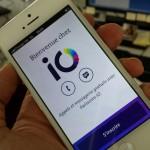 cran smartphone avec l'application io