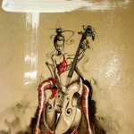 illustration musicienne contrebasse