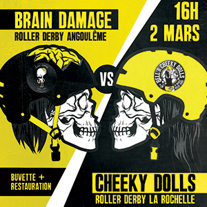 Roller Derby : les Cheeky Dolls rencontrent les Brain Damage !