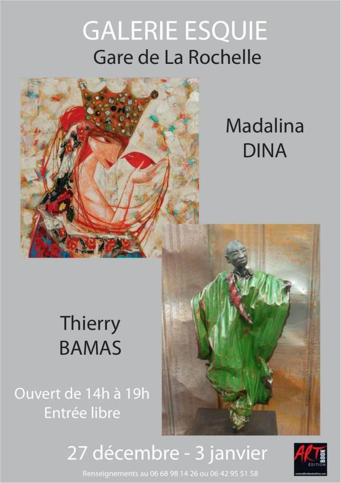 Madalina Dina et Thierry Bamas, peinture et sculpture
